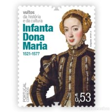 Sellos: PORTUGAL & ** FIGURAS DE LA CULTURA PORTUGUESA,15771-1336 INFANTA DONA MARIA 2021 (76588). Lote 254987785