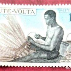 Sellos: ALTO VOLTA. A 59 ARTESANADO: CESTERO. 1969. SELLOS NUEVOS Y NUMERACIÓN YVERT.. Lote 255644945