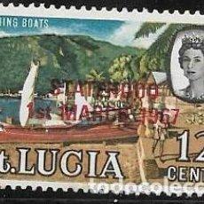 Sellos: SANTA LUCÍA YVERT 218 NUEVO CON GOMA. Lote 255945520