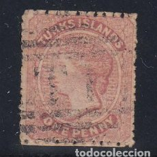 Sellos: TURKS Y CAICOS COLONIA BRITÁNICA .4 USADA, VICTORIA. Lote 258127605