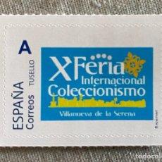 Timbres: SELLO CONMEMORATIVO X FERIA INTERNACIONAL DE COLECCIONISMO VILLANUEVA DE LA SERENA. Lote 259262680