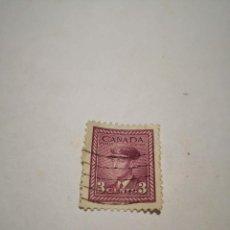 Sellos: SELLO POSTAL CANADA 1943, 3 CENTS ,REY GEORGE VI. Lote 260769450