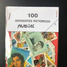 Sellos: 100 SELLOS TEMATICOS FAMOSOS. Lote 262626465