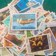 Sellos: LOTE SOBRE 18 GRAMOS GRENADA- GRENADINES NUEVOS. Lote 267510879