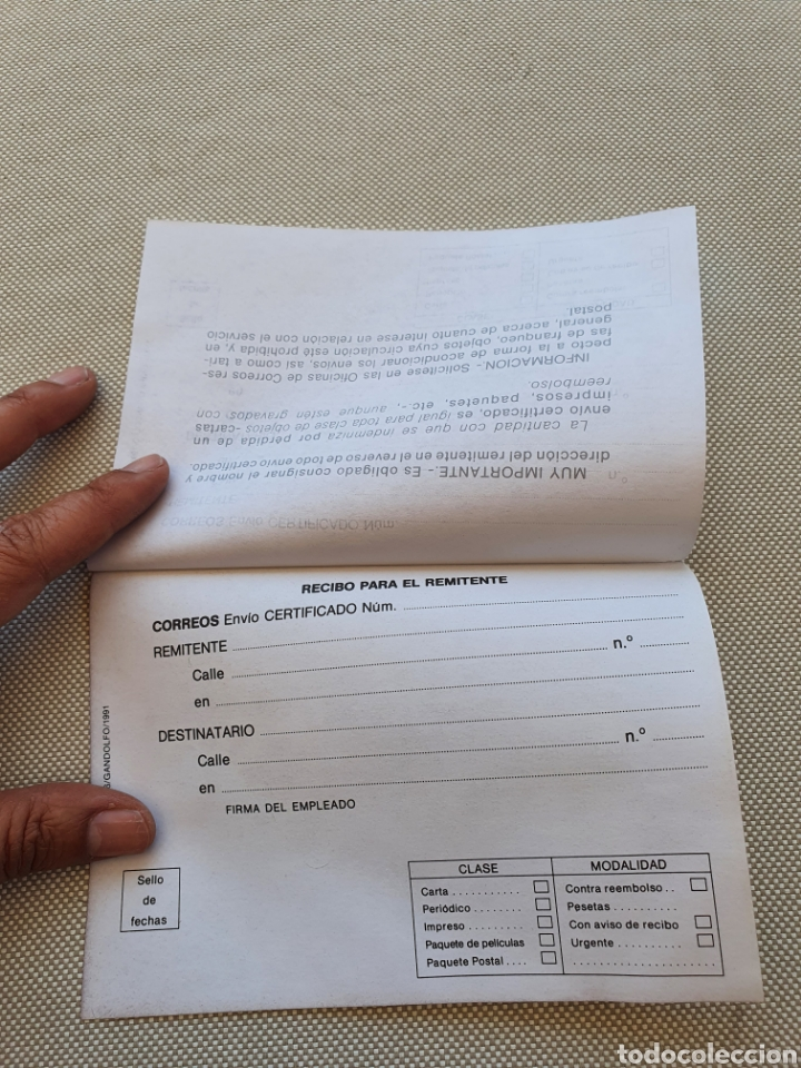Sellos: Impreso Oficial de Correos para envios certificado - Foto 3 - 269255058