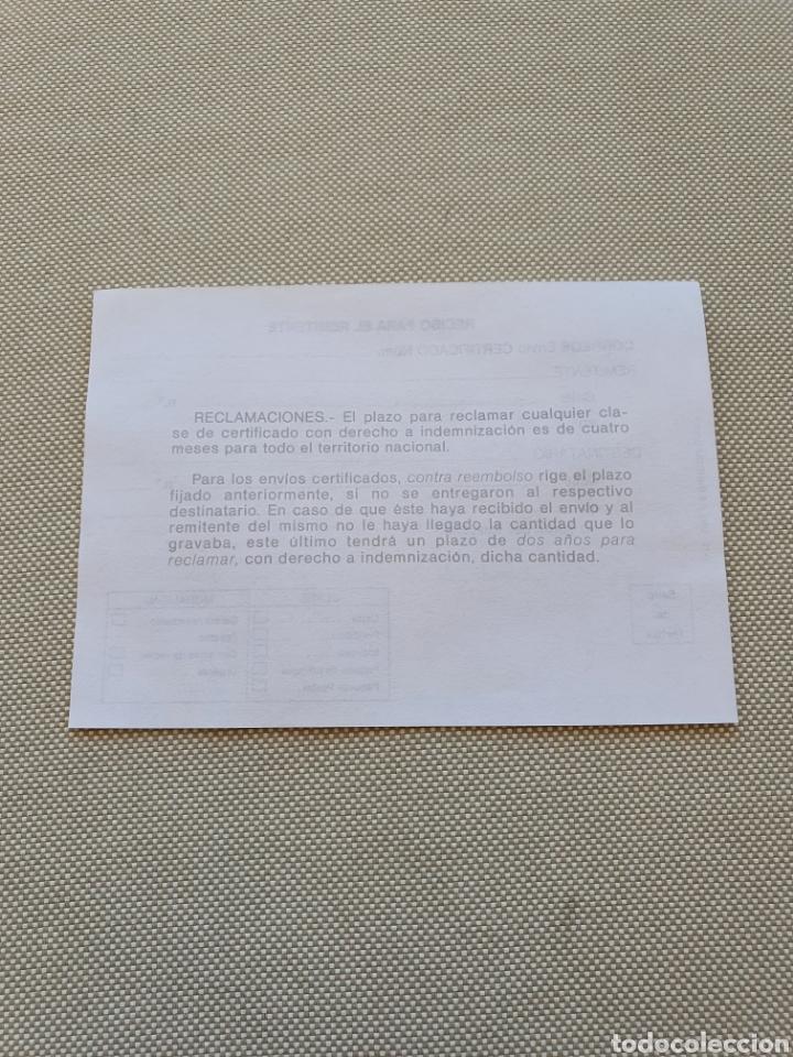 Sellos: Impreso Oficial de Correos para envios certificado - Foto 4 - 269255058