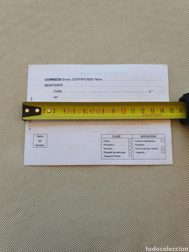 Sellos: Impreso Oficial de Correos para envios certificado - Foto 5 - 269255058