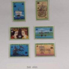 Sellos: O) 1992 SAN VICENTE Y GRANADINAS, MUESTRA, DESCUBRIMIENTO DE AMÉRICA, REY FERDINAND Y REINA ISABELL. Lote 270400813