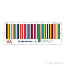 Sellos: PORTUGAL ** & PRESIDENCIA PORTUGUESA DE LA UNIÓN EUROPEA, 2021 (7786). Lote 271034333