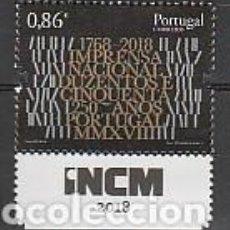 Sellos: PORTUGAL ** & 250 AÑOS DE LA PRENSA EN PORTUGAL 2018 (6820). Lote 271051298