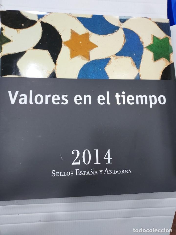 VALORES EN EL TIEMPO AÑO 2014 LIBRO OFICIAL DE CORREOS CON LA EMISION DE SELLOS DE ESPAÑA IMPECABLE (Sellos - Temáticas - Varias)
