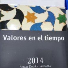 Sellos: VALORES EN EL TIEMPO AÑO 2014 LIBRO OFICIAL DE CORREOS CON LA EMISION DE SELLOS DE ESPAÑA IMPECABLE. Lote 271559773