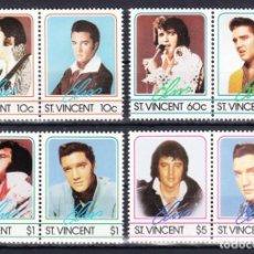 Timbres: ST. VINCENT-MICHEL-Nº 862-869 DE 1985 POST FRESCO/** (MÚSICA: ELVIS PRESLEY). Lote 271600523