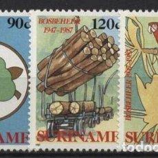 Sellos: SURINAM 1987 IVERT 1082/4 *** 40º ANIVERSARIO DE LA COMISIÓN NACIONAL DE BOSQUES. Lote 272931853