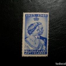 Sellos: /18.07/-ISLAS FALKLAND-1948-Y&T 95 EN NUEVO CON CHARNELA(**MLH). Lote 276192088