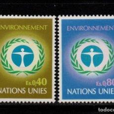 Sellos: NACIONES UNIDAS GINEBRA 25/26** - AÑO 1972 - CONFERENCIA DE MEDIO AMBIENTE, ESTOCOLMO. Lote 277516938