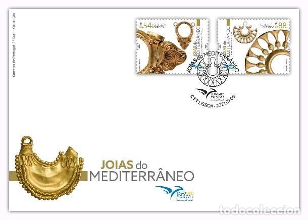PORTUGAL & FDC JOYAS DEL MEDITERRÁNEO 2021 (9799) (Sellos - Temáticas - Varias)