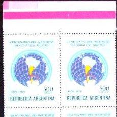 Sellos: ARGENTINA BLOQUE X 4 GJ 1898 INST GEOGRAFICO MINT L1126. Lote 282028788