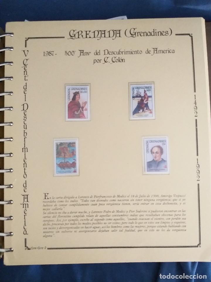 Sellos: España Lote sellos Resto colección descubrimiento América nuevo ***muy bonito Álbum De lujo - Foto 6 - 286828943
