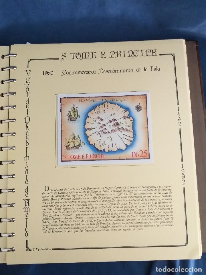 Sellos: España Lote sellos Resto colección descubrimiento América nuevo ***muy bonito Álbum De lujo - Foto 7 - 286828943