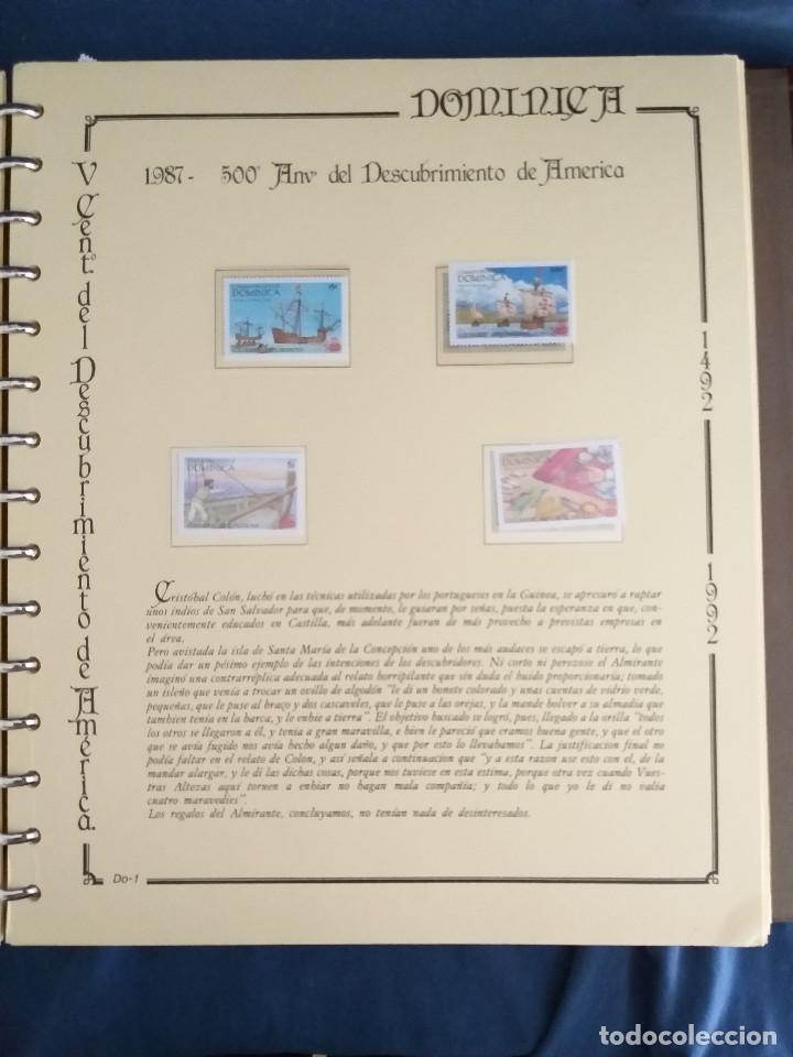 Sellos: España Lote sellos Resto colección descubrimiento América nuevo ***muy bonito Álbum De lujo - Foto 8 - 286828943
