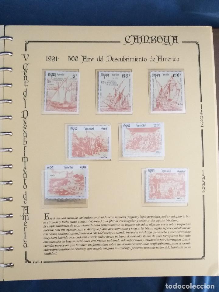 Sellos: España Lote sellos Resto colección descubrimiento América nuevo ***muy bonito Álbum De lujo - Foto 9 - 286828943