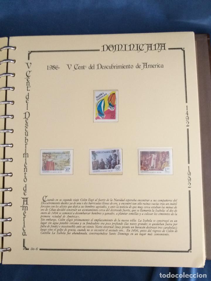 Sellos: España Lote sellos Resto colección descubrimiento América nuevo ***muy bonito Álbum De lujo - Foto 10 - 286828943