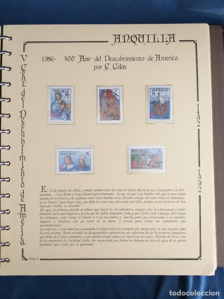 Sellos: España Lote sellos Resto colección descubrimiento América nuevo ***muy bonito Álbum De lujo - Foto 11 - 286828943