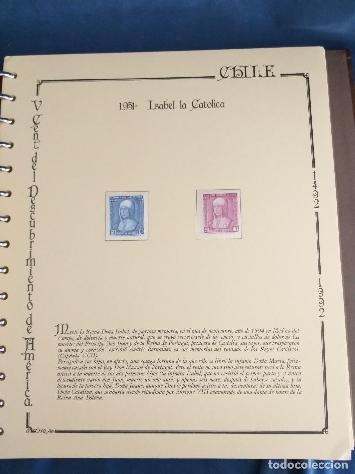 Sellos: España Lote sellos Resto colección descubrimiento América nuevo ***muy bonito Álbum De lujo - Foto 13 - 286828943