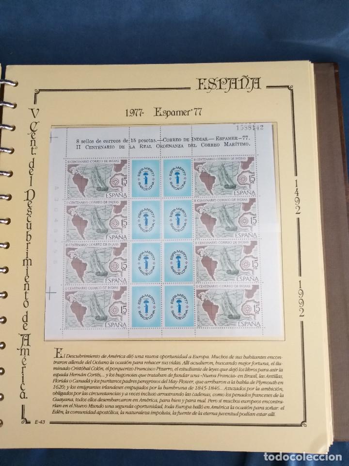 Sellos: España Lote sellos Resto colección descubrimiento América nuevo ***muy bonito Álbum De lujo - Foto 14 - 286828943