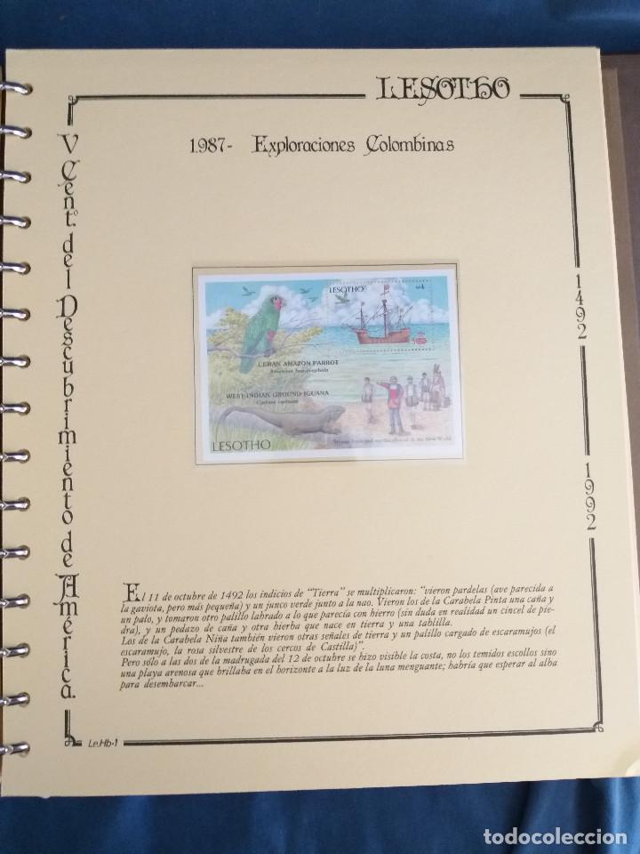 Sellos: España Lote sellos Resto colección descubrimiento América nuevo ***muy bonito Álbum De lujo - Foto 18 - 286828943