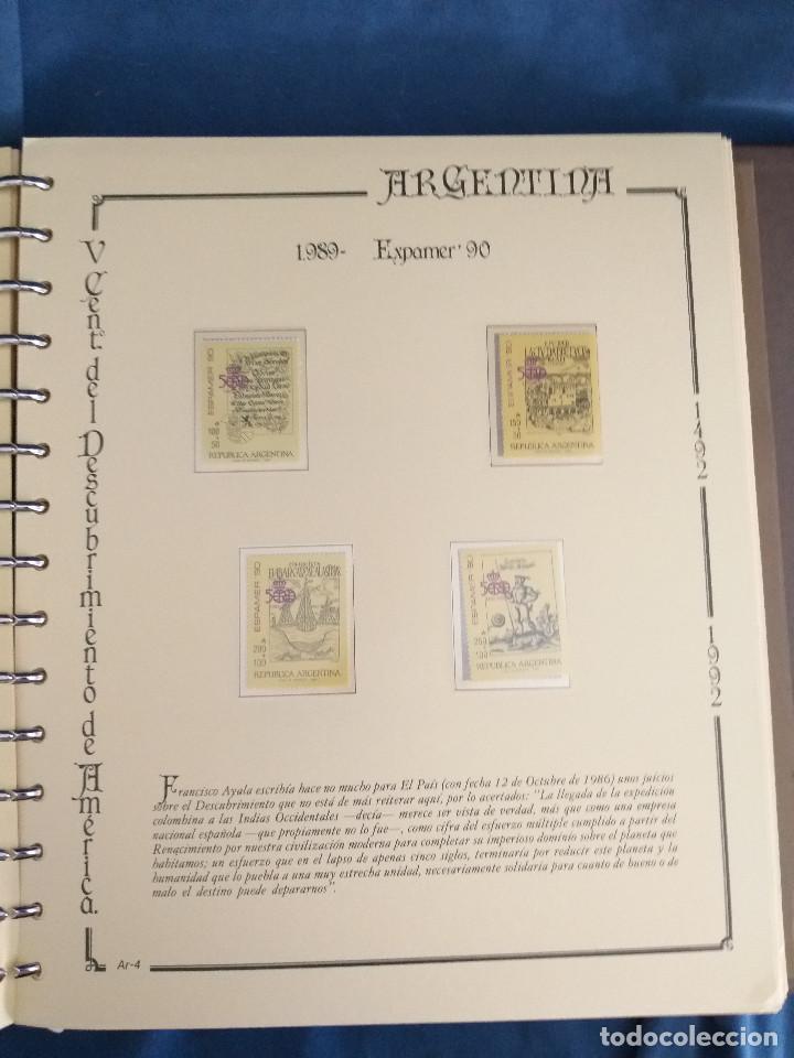 Sellos: España Lote sellos Resto colección descubrimiento América nuevo ***muy bonito Álbum De lujo - Foto 19 - 286828943
