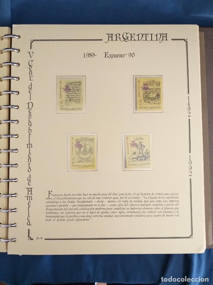Sellos: España Lote sellos Resto colección descubrimiento América nuevo ***muy bonito Álbum De lujo - Foto 20 - 286828943