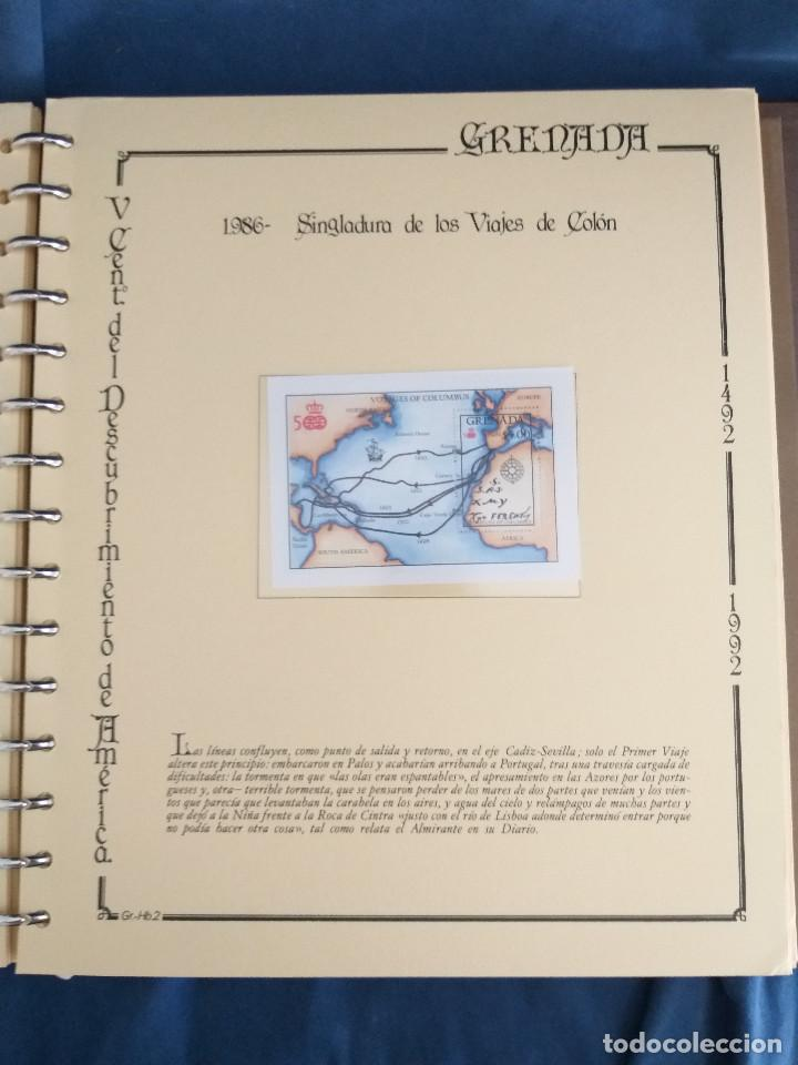 Sellos: España Lote sellos Resto colección descubrimiento América nuevo ***muy bonito Álbum De lujo - Foto 22 - 286828943