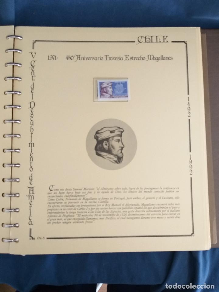 Sellos: España Lote sellos Resto colección descubrimiento América nuevo ***muy bonito Álbum De lujo - Foto 23 - 286828943
