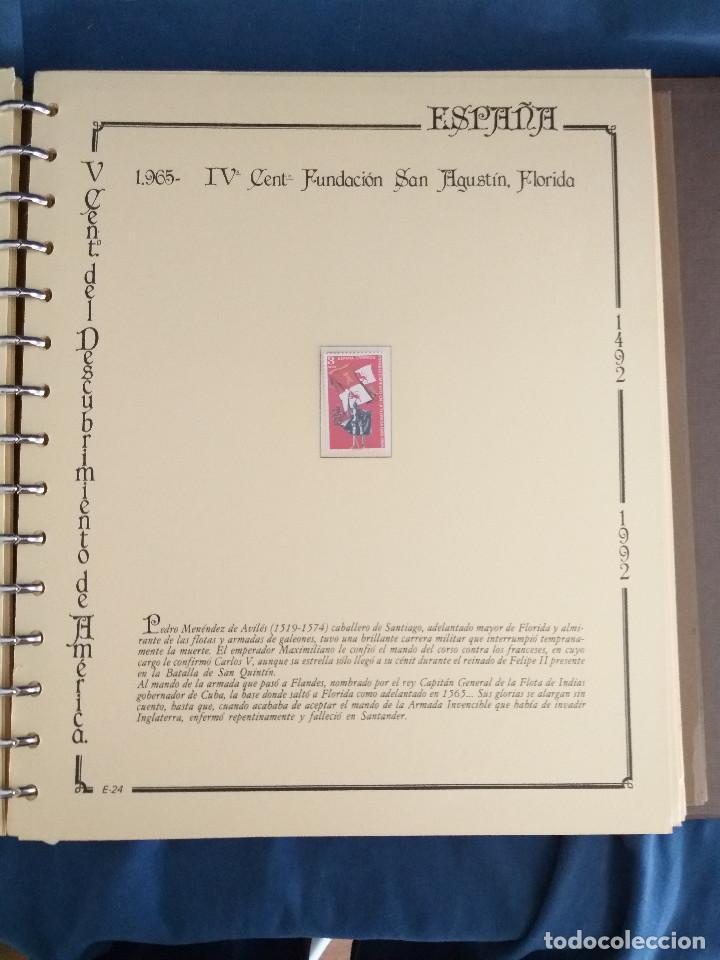 Sellos: España Lote sellos Resto colección descubrimiento América nuevo ***muy bonito Álbum De lujo - Foto 24 - 286828943