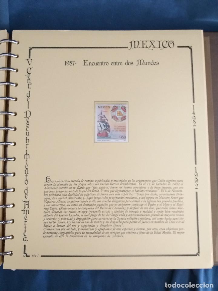 Sellos: España Lote sellos Resto colección descubrimiento América nuevo ***muy bonito Álbum De lujo - Foto 25 - 286828943