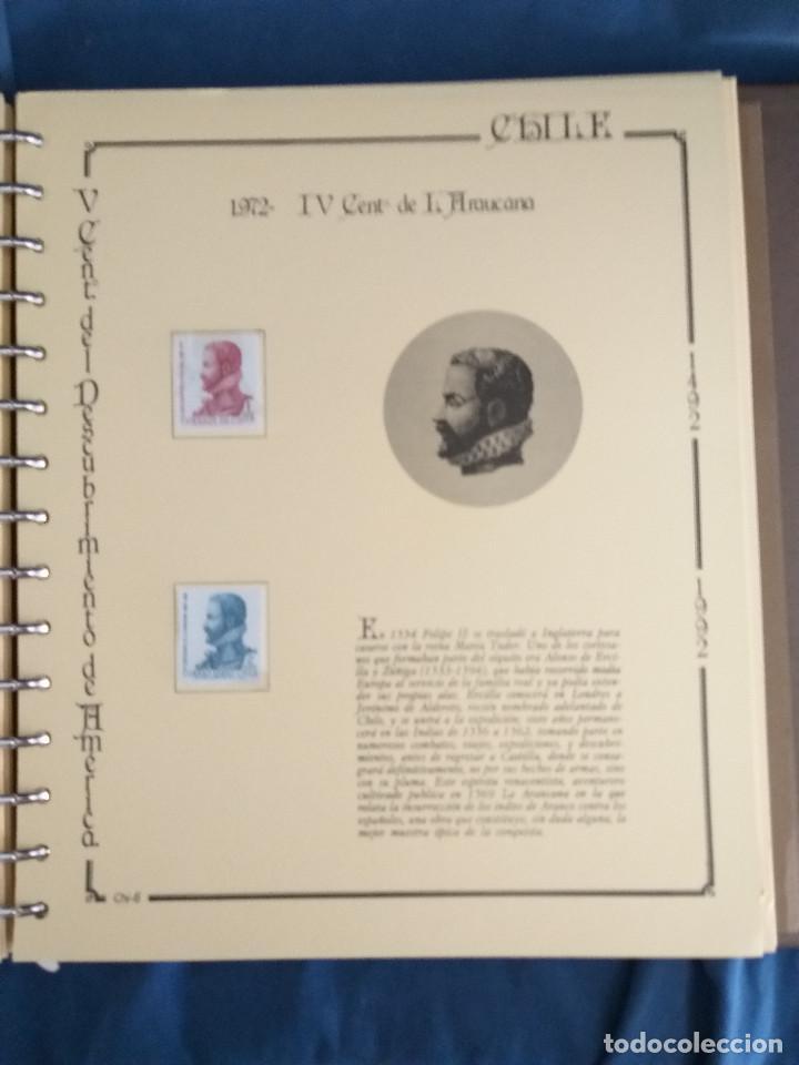 Sellos: España Lote sellos Resto colección descubrimiento América nuevo ***muy bonito Álbum De lujo - Foto 26 - 286828943