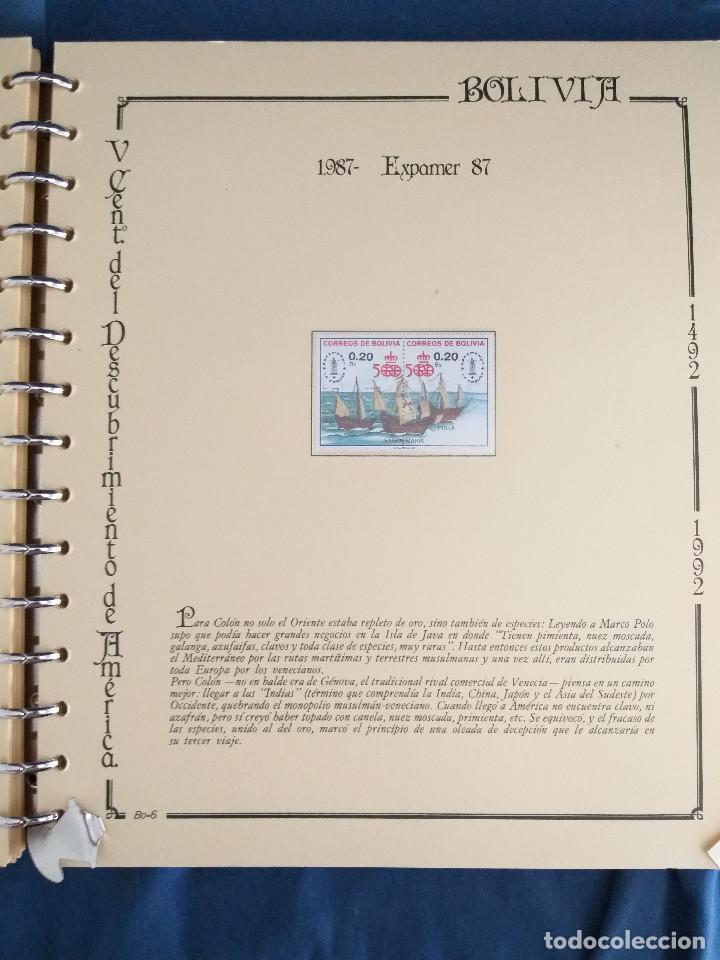 Sellos: España Lote sellos Resto colección descubrimiento América nuevo ***muy bonito Álbum De lujo - Foto 28 - 286828943