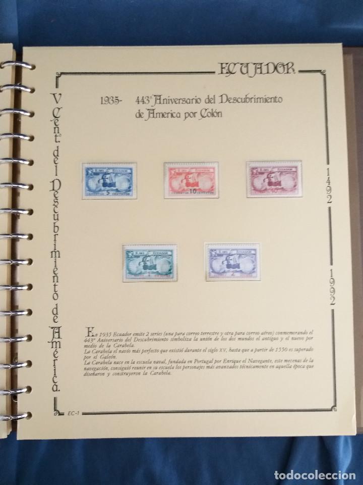 Sellos: España Lote sellos Resto colección descubrimiento América nuevo ***muy bonito Álbum De lujo - Foto 29 - 286828943