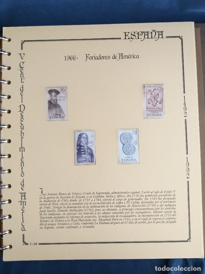 Sellos: España Lote sellos Resto colección descubrimiento América nuevo ***muy bonito Álbum De lujo - Foto 32 - 286828943