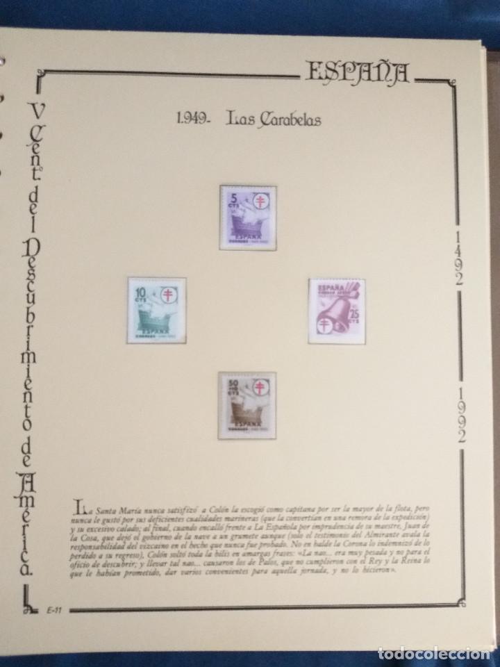 Sellos: España Lote sellos Resto colección descubrimiento América nuevo ***muy bonito Álbum De lujo - Foto 33 - 286828943