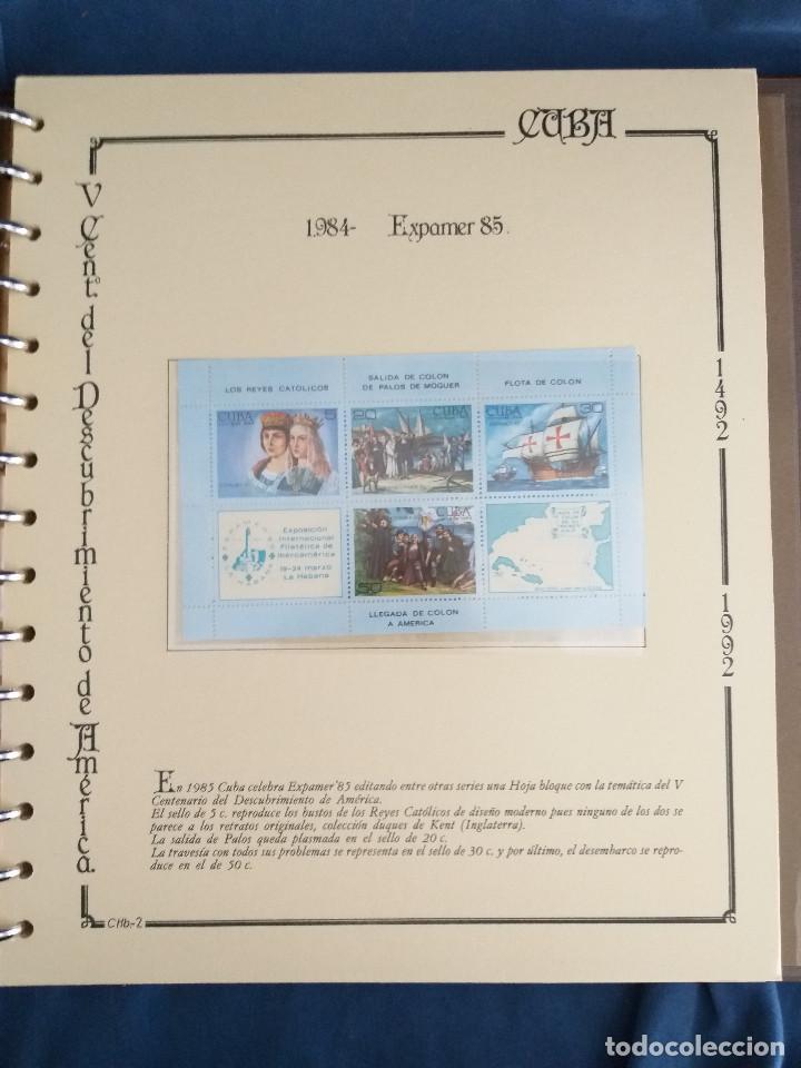 Sellos: España Lote sellos Resto colección descubrimiento América nuevo ***muy bonito Álbum De lujo - Foto 35 - 286828943
