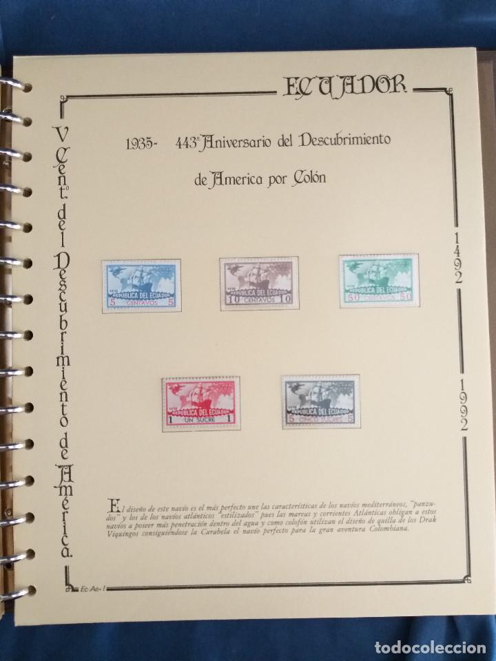 Sellos: España Lote sellos Resto colección descubrimiento América nuevo ***muy bonito Álbum De lujo - Foto 37 - 286828943