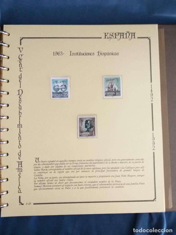 Sellos: España Lote sellos Resto colección descubrimiento América nuevo ***muy bonito Álbum De lujo - Foto 39 - 286828943