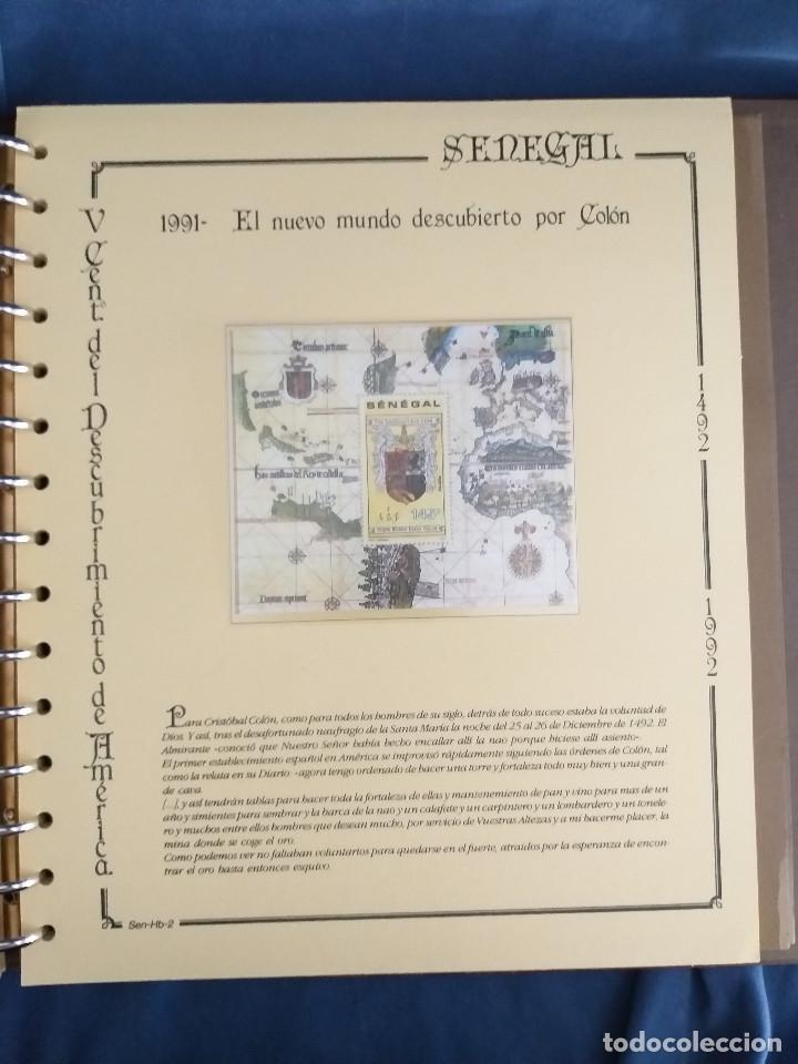 Sellos: España Lote sellos Resto colección descubrimiento América nuevo ***muy bonito Álbum De lujo - Foto 43 - 286828943