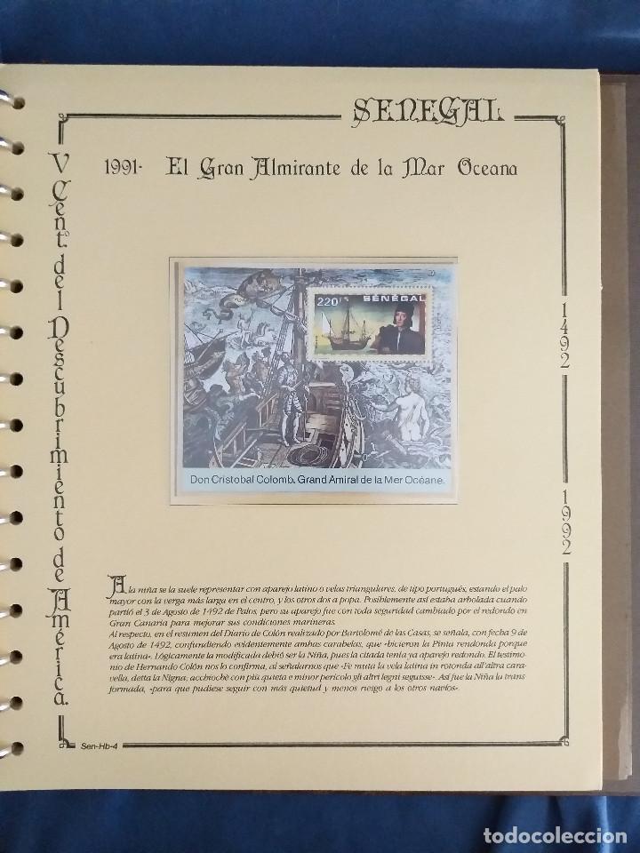 Sellos: España Lote sellos Resto colección descubrimiento América nuevo ***muy bonito Álbum De lujo - Foto 45 - 286828943