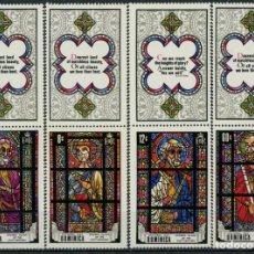 Sellos: DOMINICA 1969 IVERT 259/62 *** DÍA NACIONAL - VIDRIERAS DEL SIGLO XVII. Lote 287656103