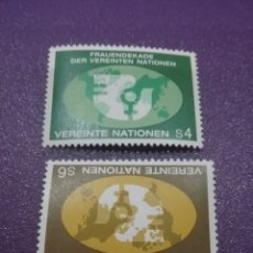 Sellos: SELLO NACIONES UNIDAS (VIENA) NUEVOS/1980/DECADA/DE/LAS/MUJERES/MAPAMUNDI/PALOMA/AVE/PAJARO/SIMBOLO/. Lote 288070378