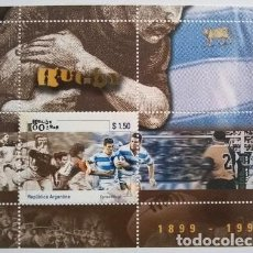 Sellos: HB ESTAMPILLA 100 ANOS UNION ARGENTINA RUGBY UAR 1999 MINT. Lote 288295673